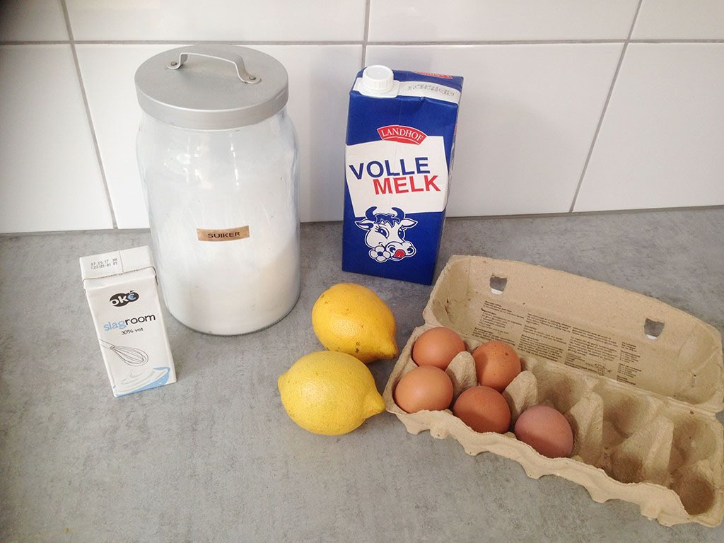 Lemon ice cream ingredients