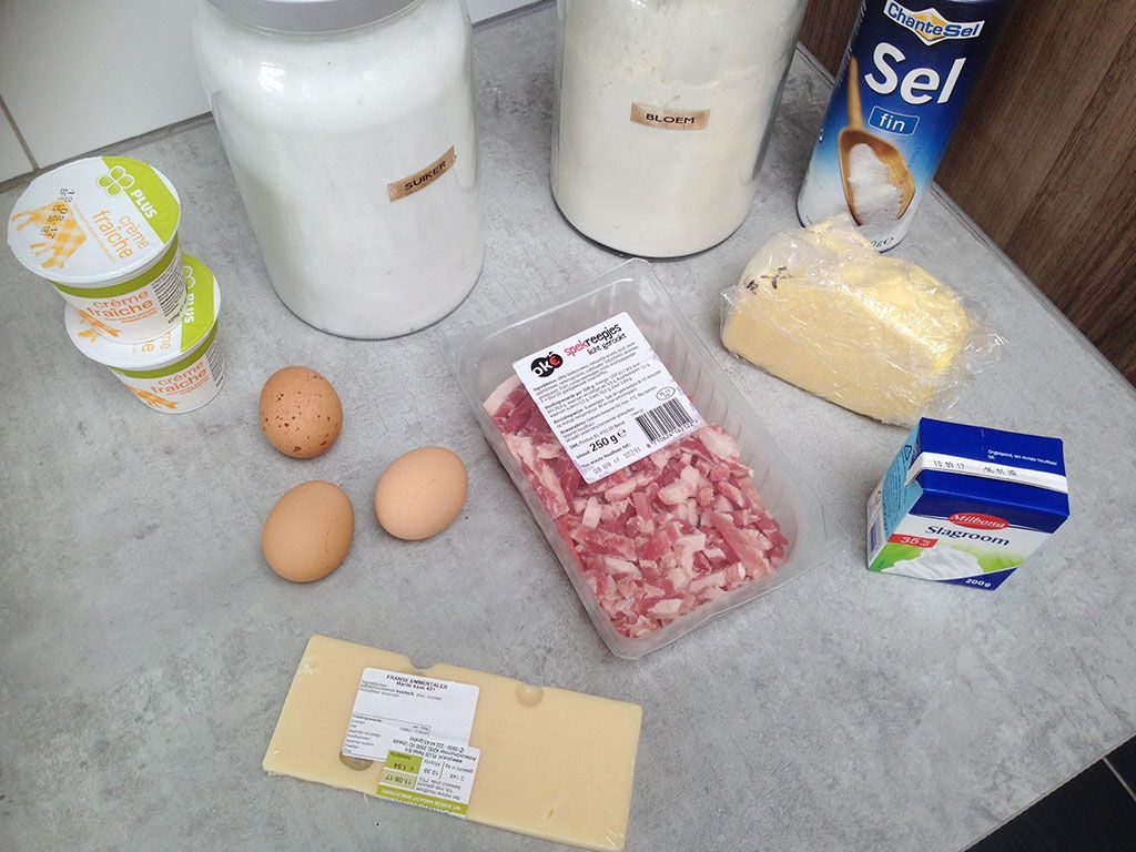 Quiche Lorraine ingredients