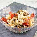Roasted vegetables pasta salad 120x120 - Pasta salad with orange and cheese