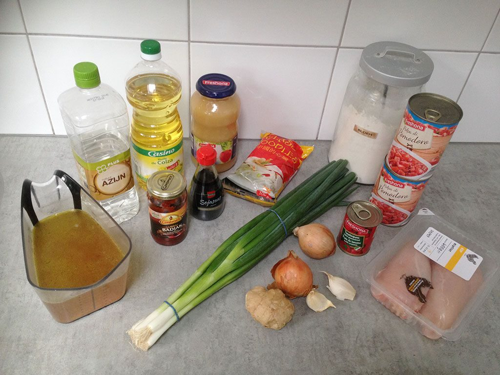 Chinese tomato soup ingredients