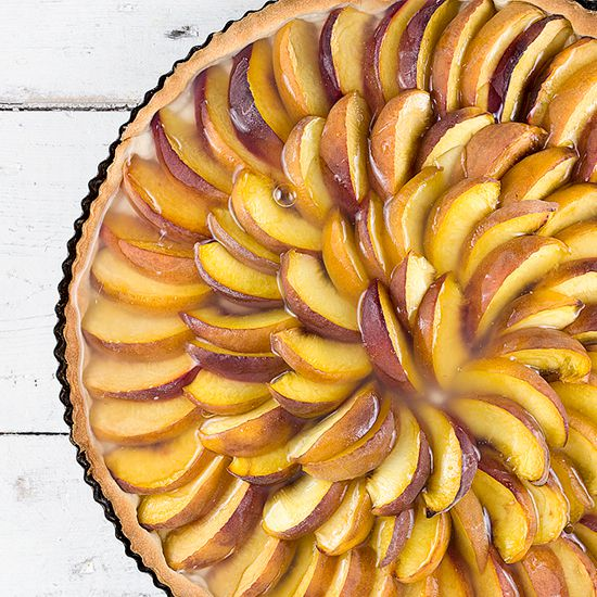 Dutch peach pie - perzikvlaai