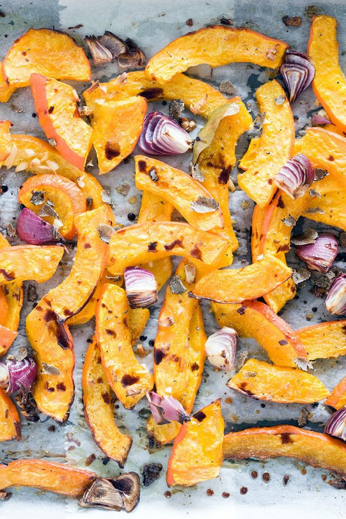 Oven roasted pumpkin with red onion and truffle 2 683x1024 - Oven-roasted pumpkin with red onion and truffle