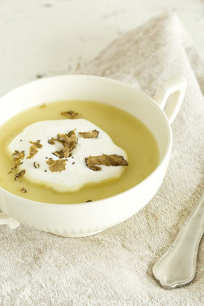 Potato truffle soup
