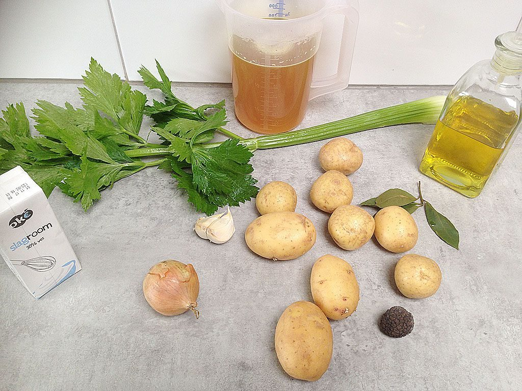 Potato truffle soup ingredients