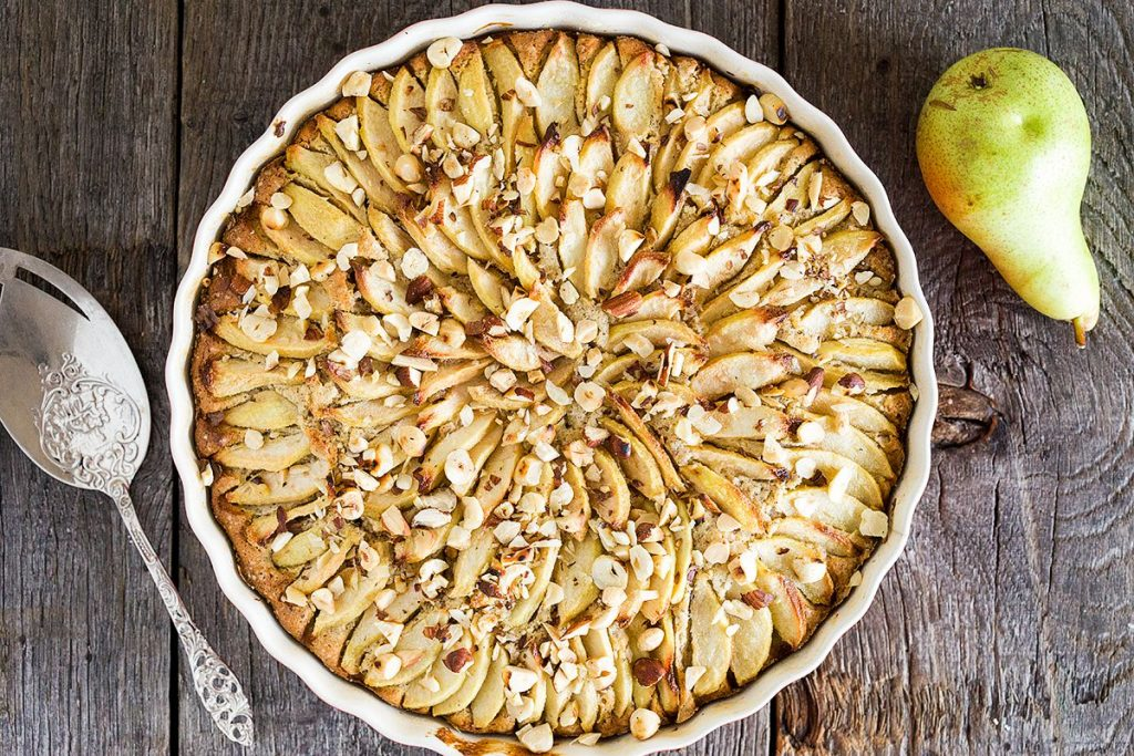 Hazelnut pear cake