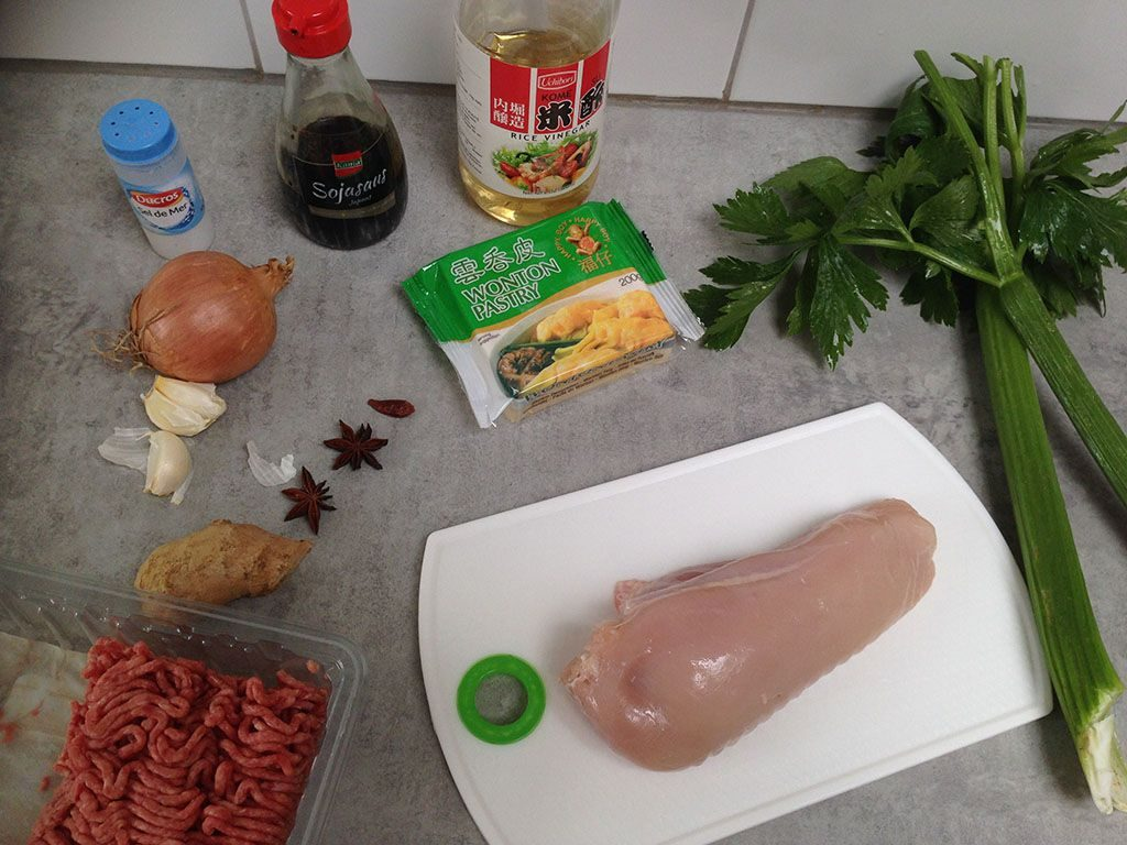 Wonton in spiced chicken broth ingredients