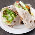 Chicken and jalapeño lunch wrap 120x120 - Smoked trout wrap with lime