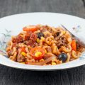 Chorizo and tomato macaroni 120x120 - Flower sprouts with chorizo