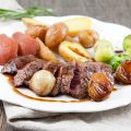 Kangaroo steak in syrup sauce 120x120 - Bavette steak with mustard sauce