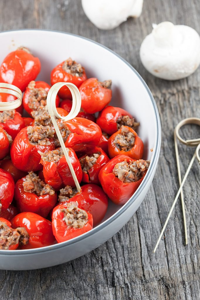 Stuffed peppadew peppers with chorizo and mushrooms 2 683x1024 - Stuffed peppadew peppers with chorizo and mushrooms