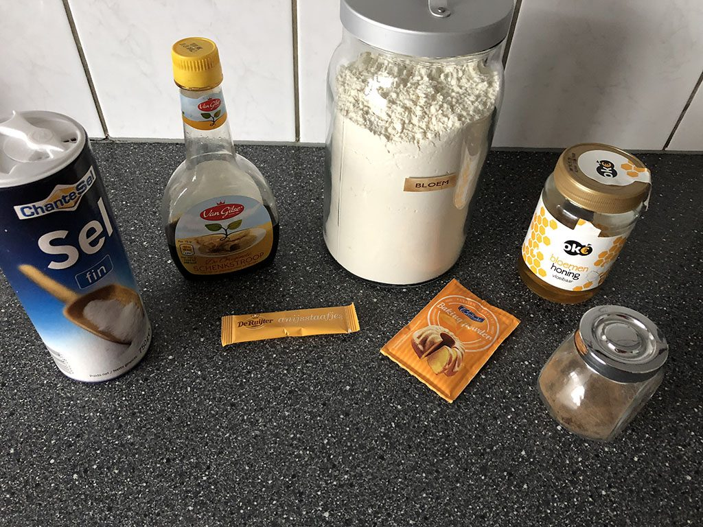 Taaitaai ingredients