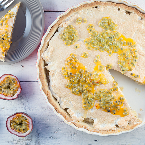 Frangipane and passion fruit pie square - Frangipane and passion fruit pie