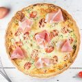 Quiche with zucchini and Serrano ham