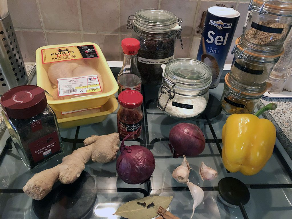 Black pepper chicken ingredients
