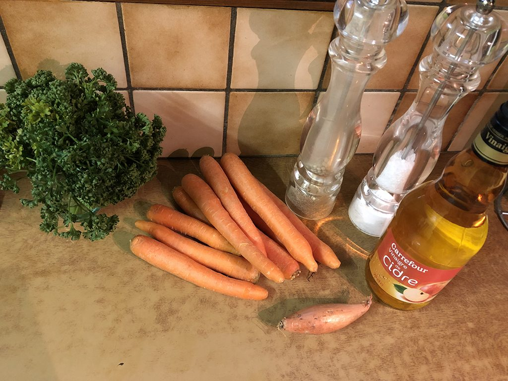 Carrot salad ingredients