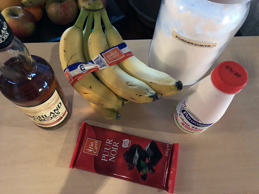 Drunken whisky bananas ingredients