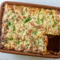 Ground beef and ricotta lasagna