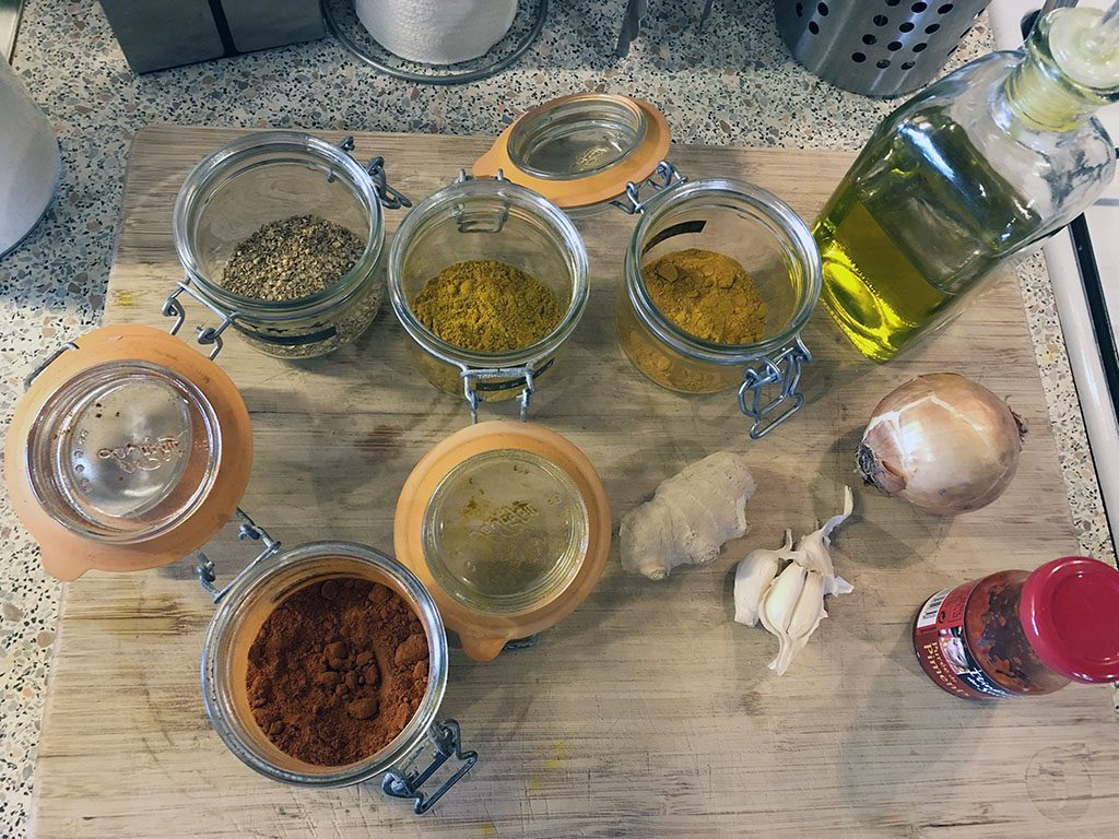 How to make mild curry paste ingredients 1024x768 - How to make mild curry paste
