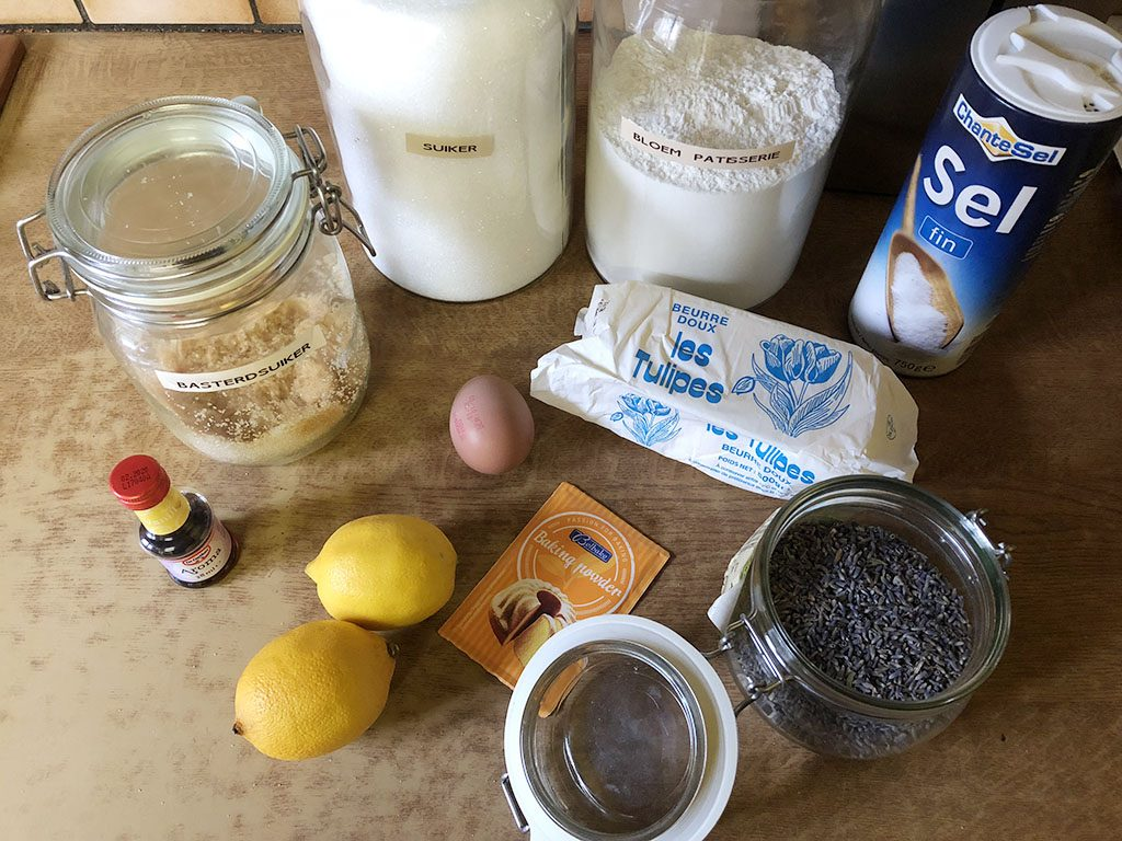 Lavender lemon cookies ingredients
