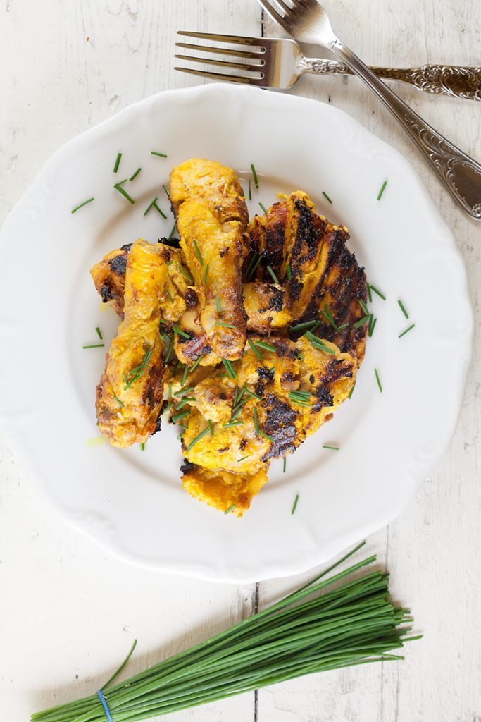 Pan fried tandoori chicken