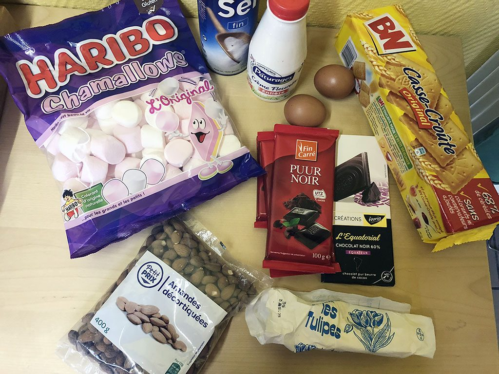 Rocky road pie ingredients