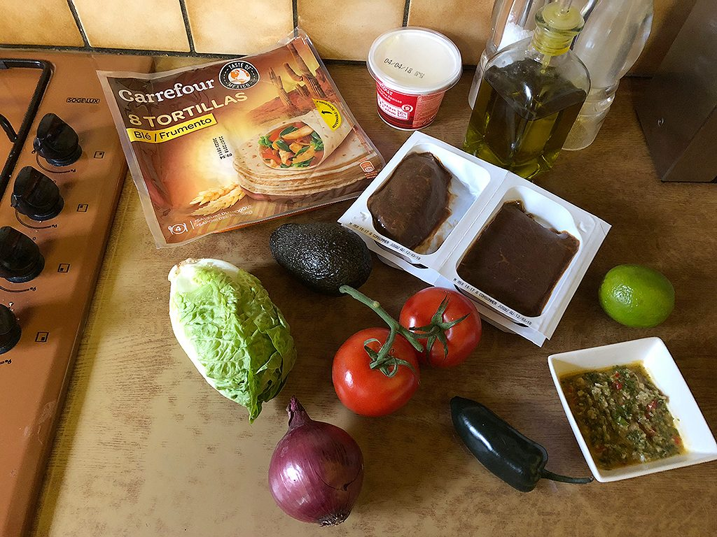 Chimichurri steak tacos ingredients