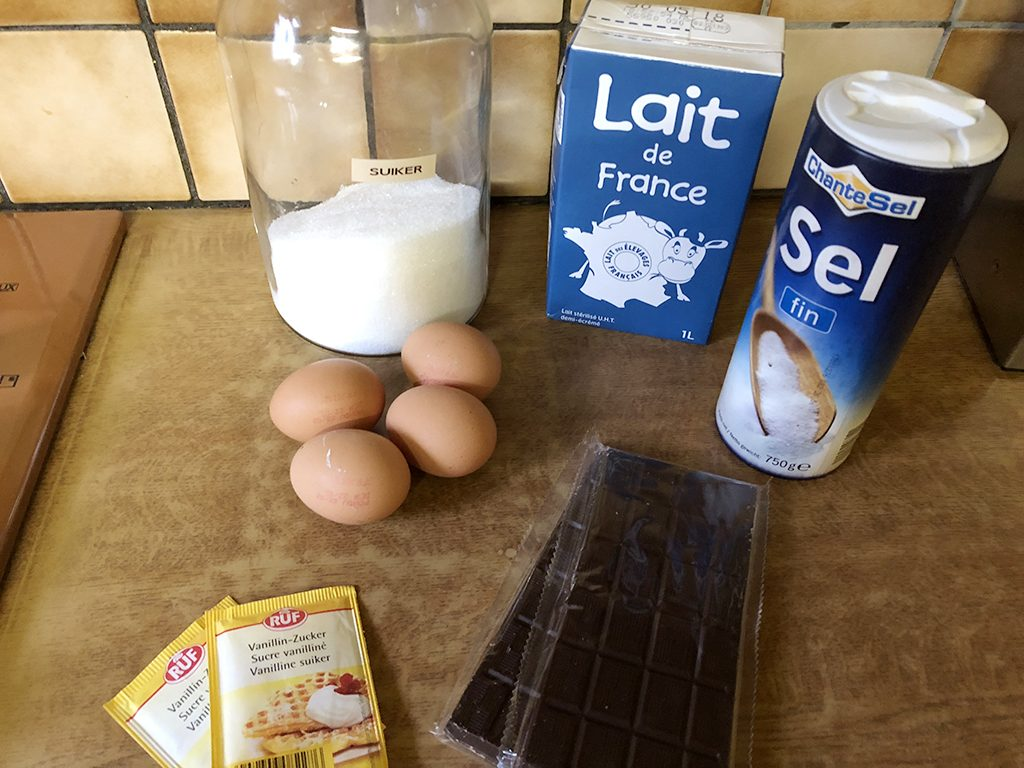 French chocolate flan ingredients
