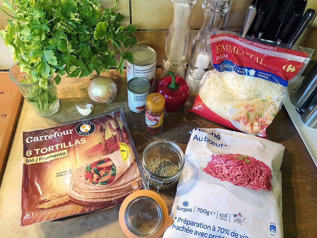 Ground beef enchiladas ingredients