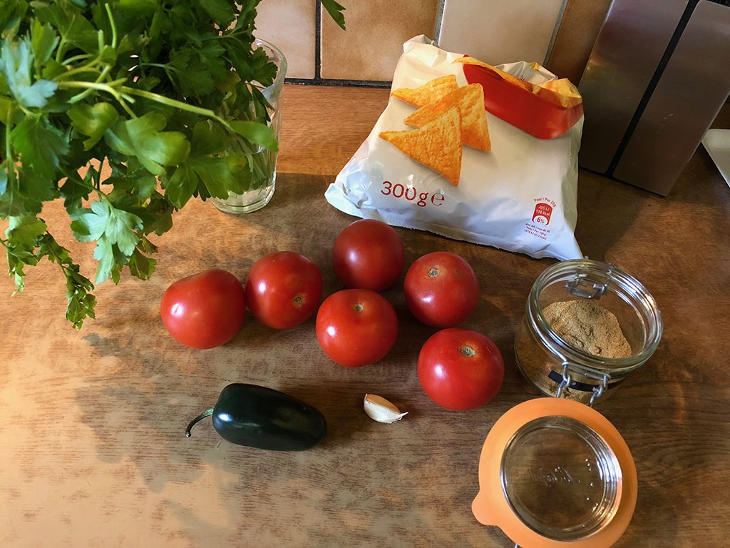 Quick tomato salsa ingredients