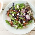 Sauteed red cabbage and blue cheese salad 120x120 - Autumn salad with bacon, lentils and cheese