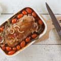 Veal roast with tomatoes and rosemary