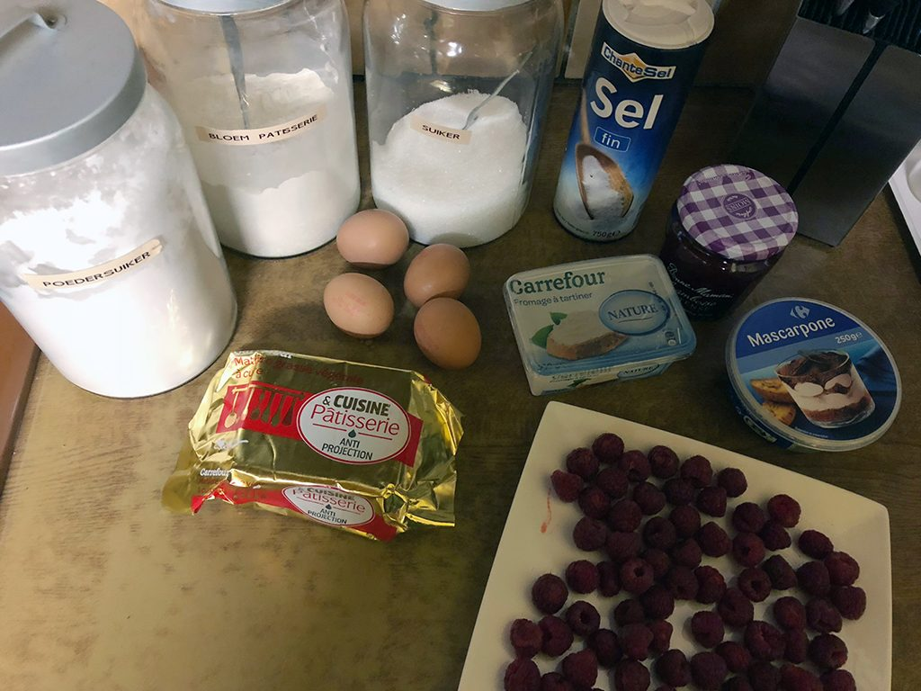 Raspberry cake roll ingredients