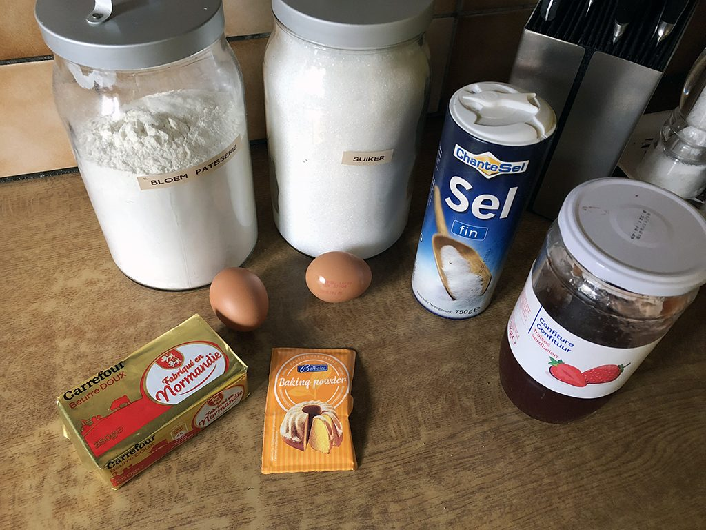Sbriciolata - Italian crumble cake ingredients