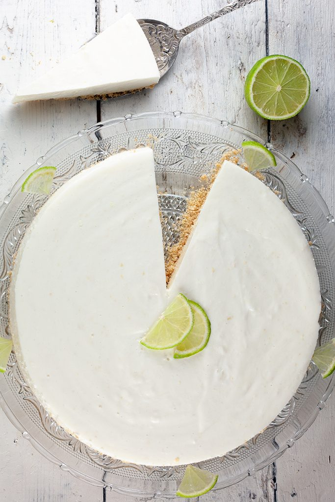 Lime quark pie