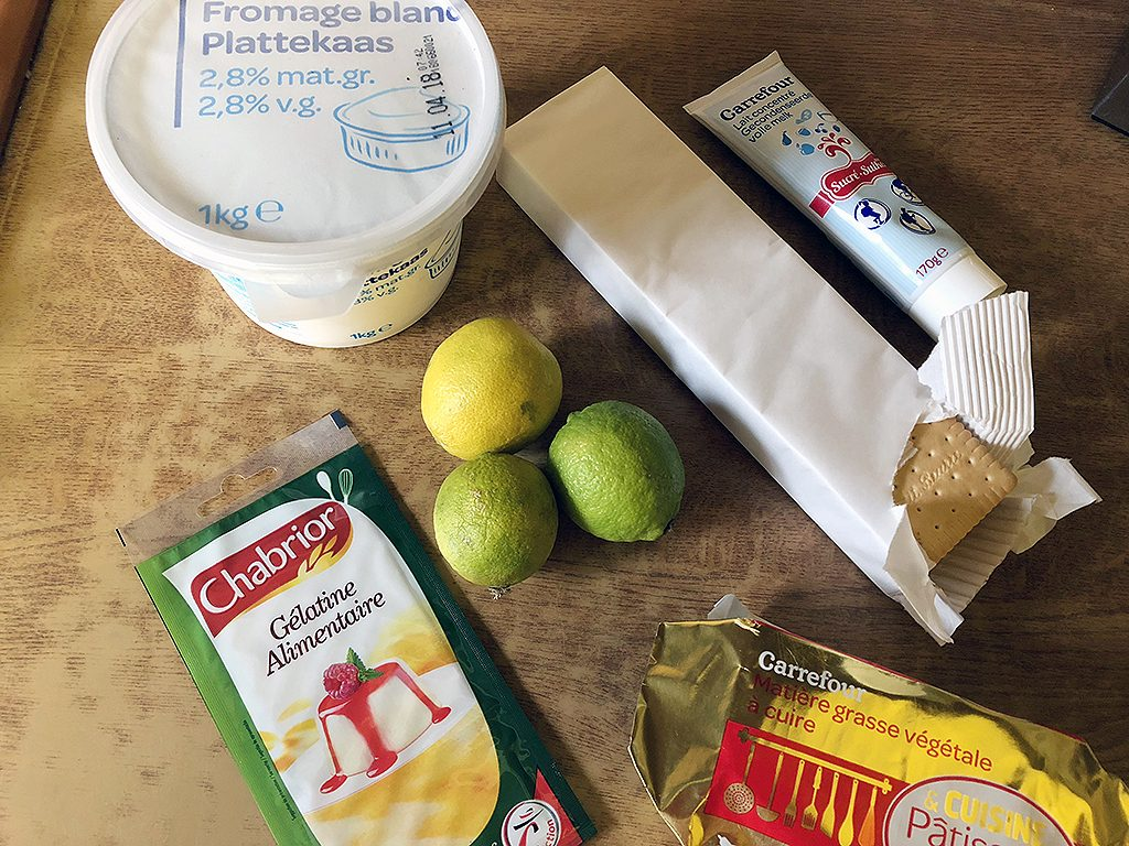 Lime quark pie ingredients