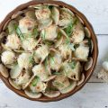 Oven baked meatballs potatoes and bechamel sauce 120x120 - Escarole oven dish with ham and cheese