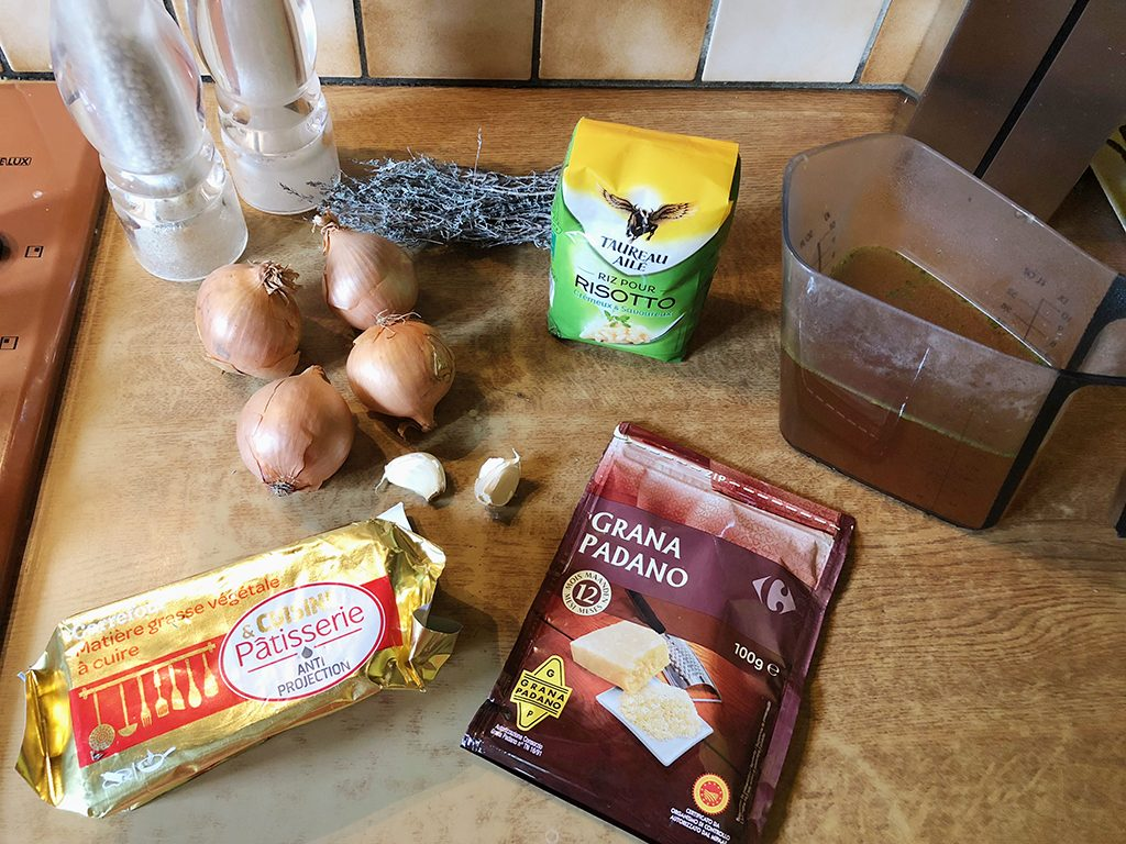 French onion risotto ingredients