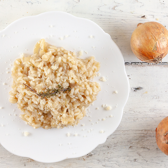 French onion risotto square - French onion risotto