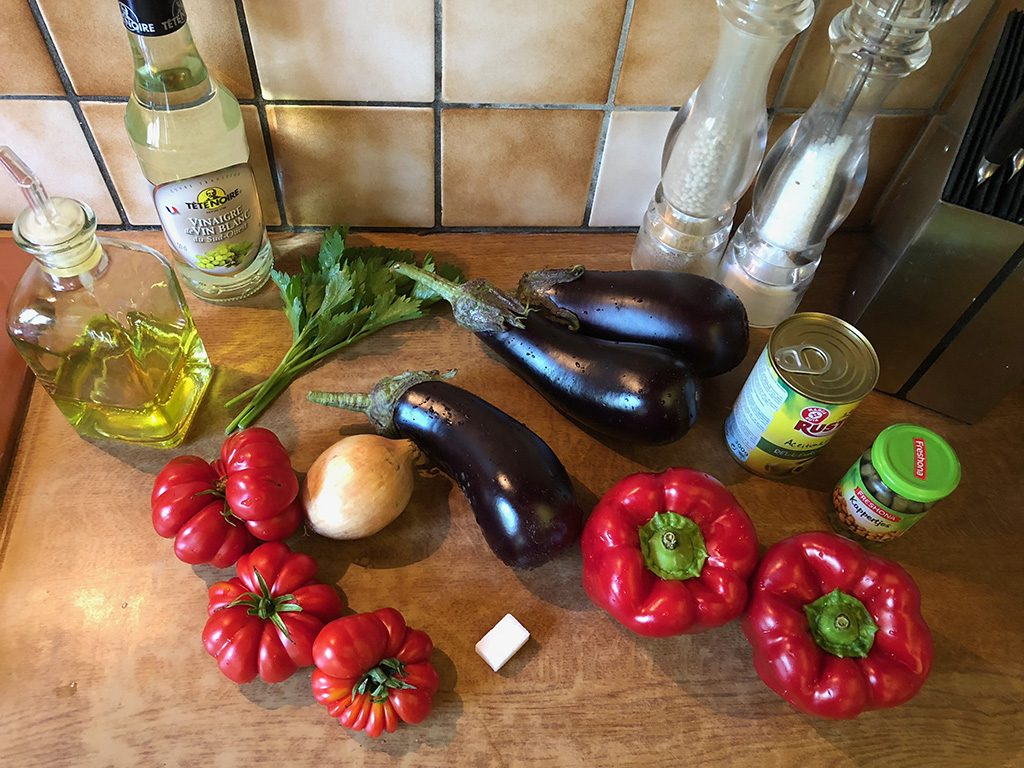 Caponata ingredients