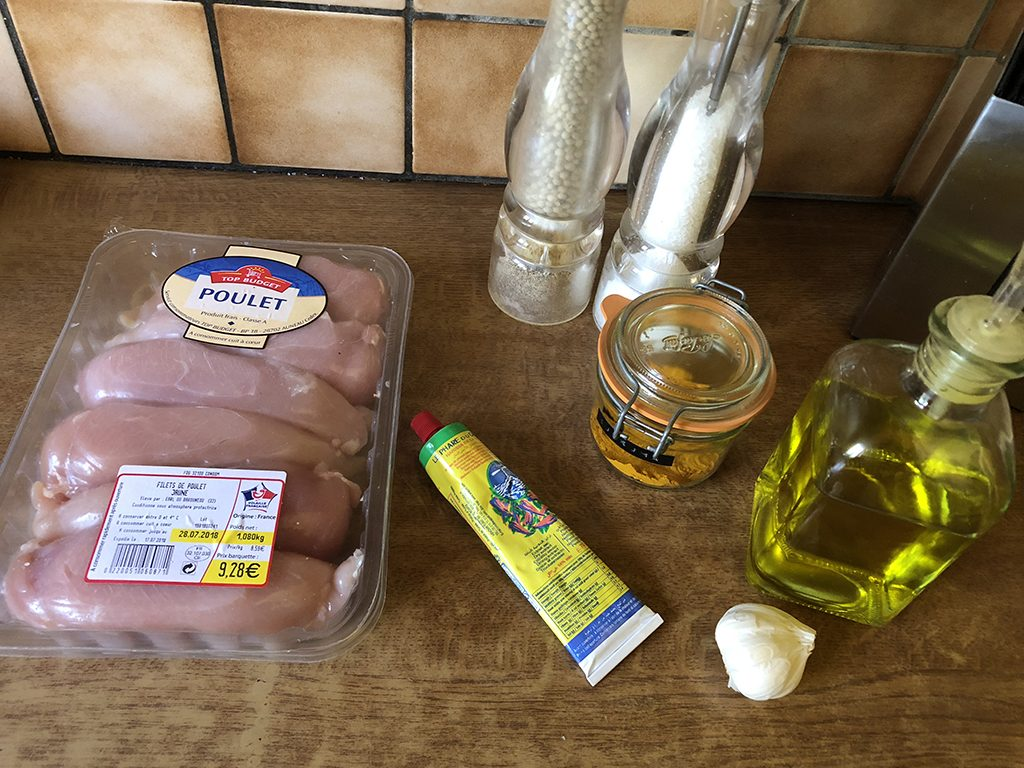 Turmeric chicken kebabs ingredients