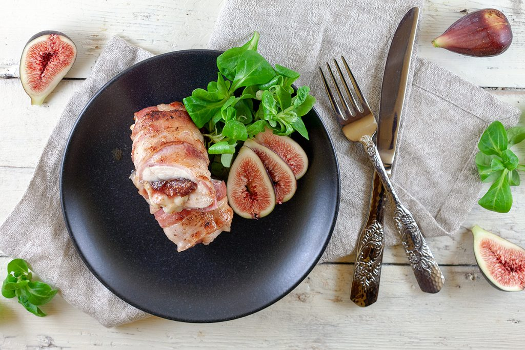 Fig and camembert chicken
