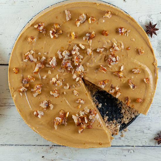 No bake pumpkin cheesecake square - No-bake pumpkin cheesecake