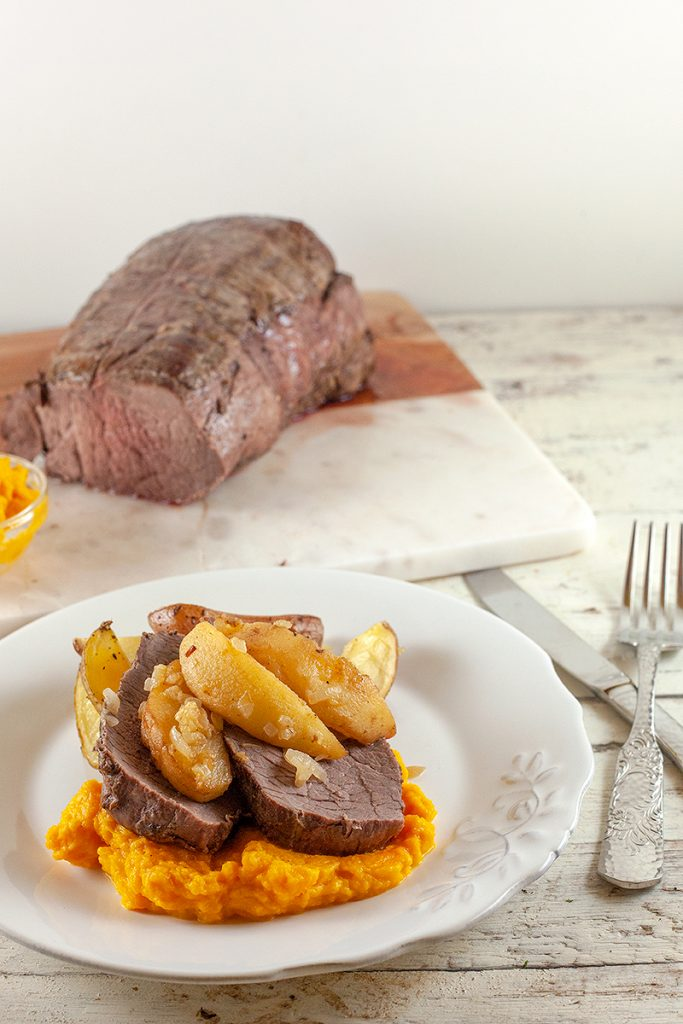 Roast beef with quince and pumpkin 2 683x1024 - Roast beef with quince and pumpkin