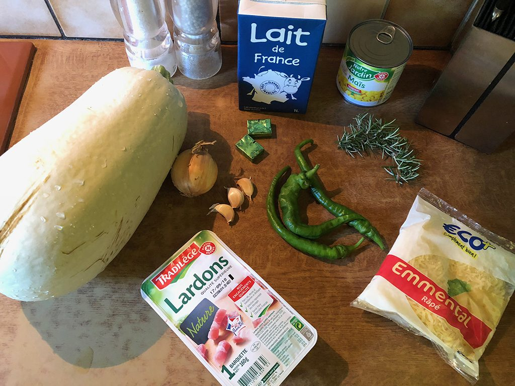Summer squash soup ingredients 1024x768 - Summer squash soup