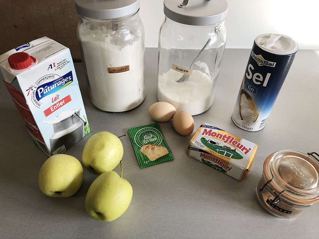 Apple brioche ingredients