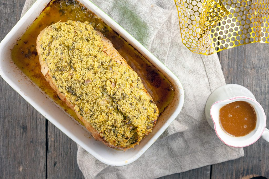 Lemon and herb crusted turkey roast