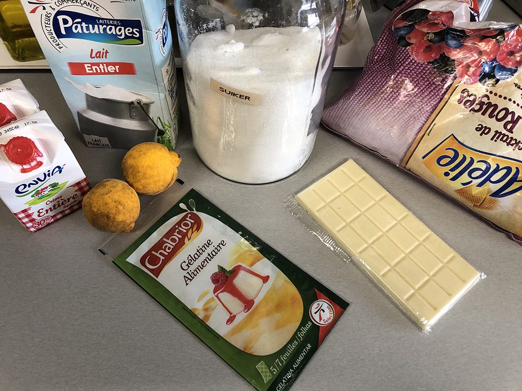 Yuzu panna cotta ingredients