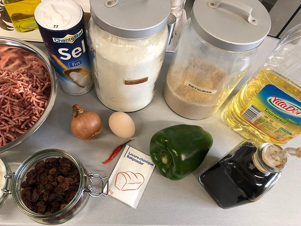 Antillean pastechi ingredients