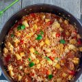 Chorizo and chicken jambalaya 120x120 - Pan fried chorizo