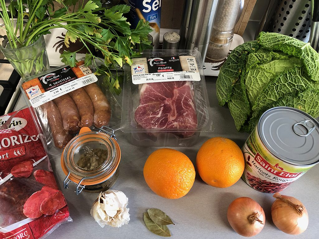 Feijoada stew ingredients